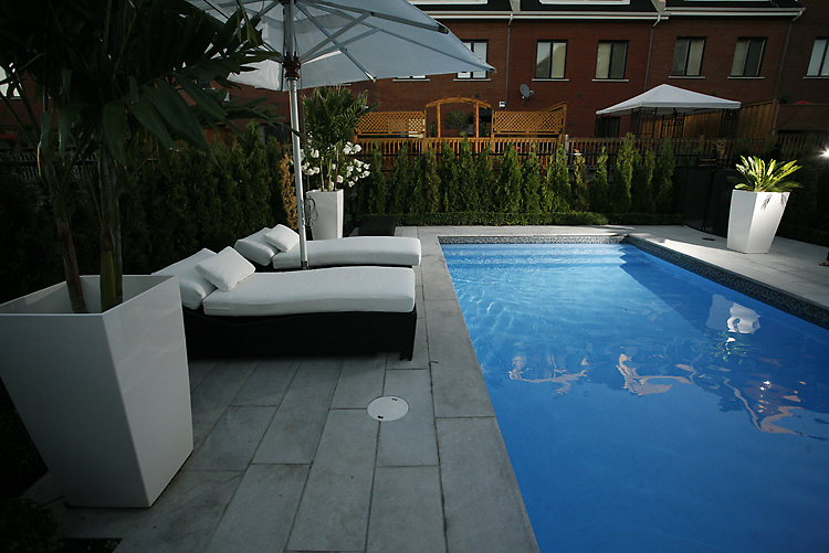 A Pool in Saint-Laurent created by Piscines Paramount and Groupe Paramount